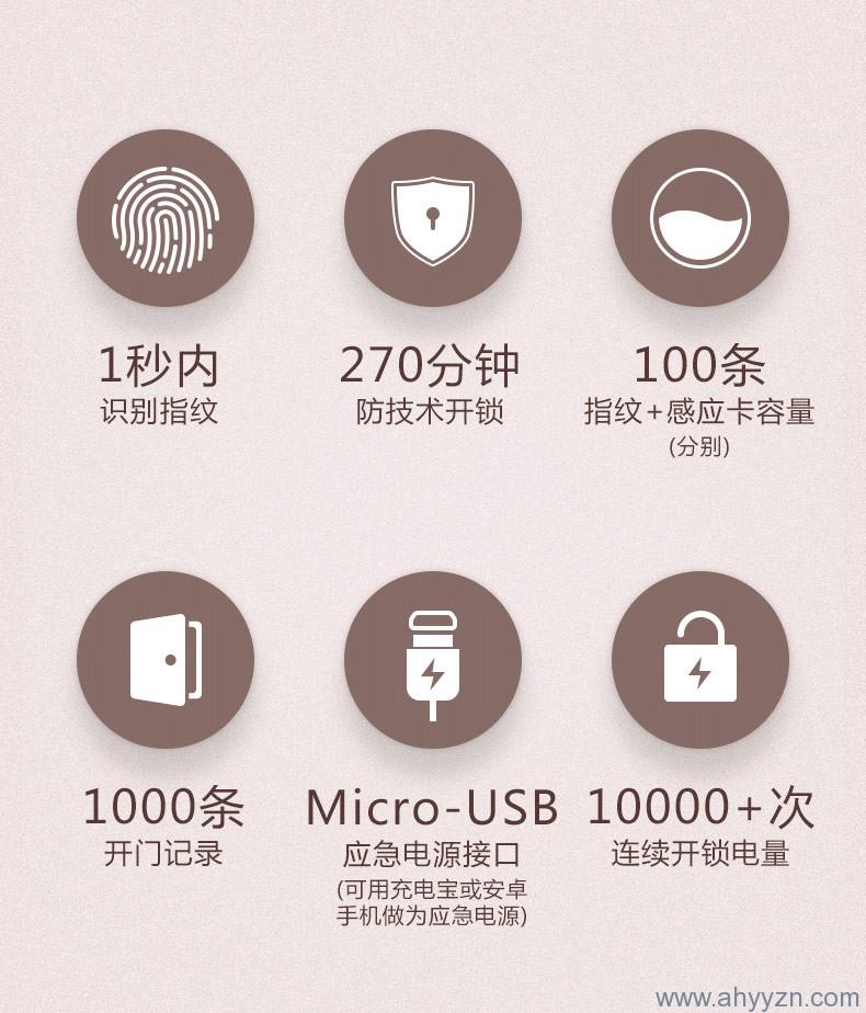 海康指纹密码锁